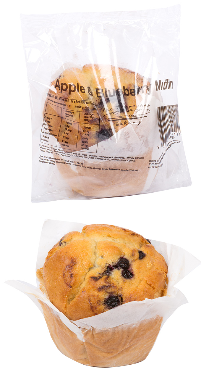 Apple blueberry muffin flow packed combo